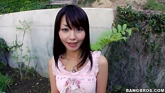 Sweet Asian babe Marica Hase gets her hands on a huge black cock