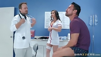 Hot Latina Nurse Sucking Off The Surprised Patient - Alina Lopez And Johnny Castle