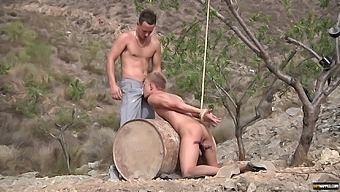 Hardcore mouth and ass fucking in outdoors between two gay dudes