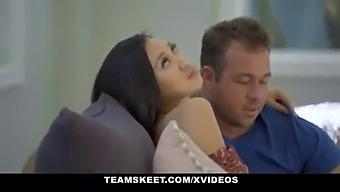 Teeny Stepsisters Kimora Quin And Madi Laine Share Horny Boyfriend