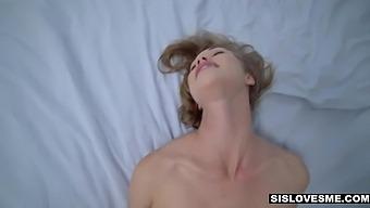 Stepsister Diana Grace gives a blowjob and prefers doggy style sex