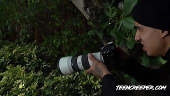 Teen Creeper Goldie Glock - Creepy Stalker