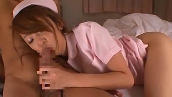 Wild fucking on the hospital bed with sexy Asian nurse Sayaka Fukuyama
