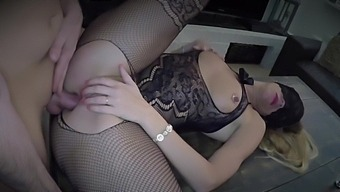 Dutch Blonde Girl Fucked In Both Holes And Play With Cum In Eye And Swallow