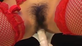 Lovely girl Aki Anzai takes turns at sucking on delicious cocks