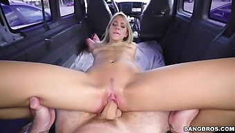 Amateur sucks dick and gets laid in the bang bus