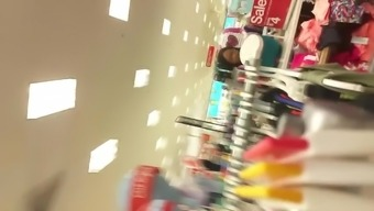Major booty Latina shopping with boyfriend Pt.1(one)