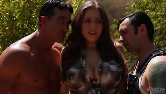 Alex Chance serves as a full-figured blond requiring a number of challenging dicks