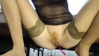 Alexis Capri guitar solo genital stimulation with the use of dildo and fingers