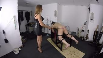 Female friend Against Beating Her slave