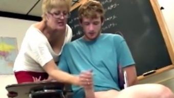 Shorthaired brown gilf tutor movements his very difficult elevate