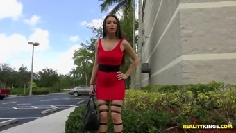 alexis rodriguez turned out to be noticed in a sexy high heel boots and hips