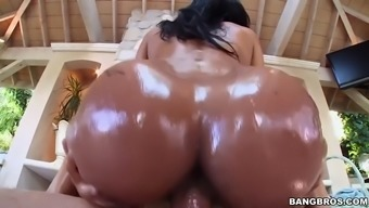 abby lee brazil gets oiled way up and after that fucked open air