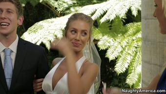 Nicole Aniston slash with her fiance along at the wedding day