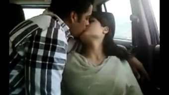 Hot indian couple in automobile gets kinky