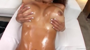 Busty ebony will get a very difficult shaft put right up her wound