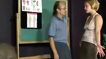 Mandy gets her ass tyrannically spanked by her unrestrained instructor