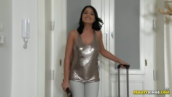 Attractive missy Aida Charming sucks penis and gets fucked like there may be no in the near future