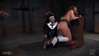 This senior redheaded is incredibly naughty plus the nun is going to throw the book at her!