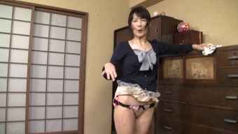 Senior Japanese lady of one's family home contributes along with herself