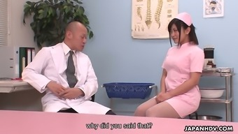 Cute nurse Aika Hoshino is obtaining down and filthy with the health professional