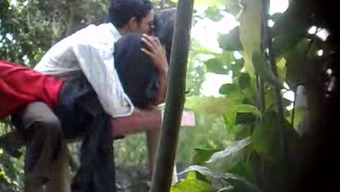 Concealed cam pornography video outdoor of an Indian newbie a few