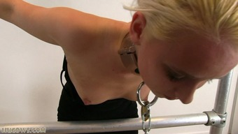 Intense punishment for blond sexual intercourse cash source on milking equipment