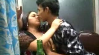 Indian couple are drink and these people like touching