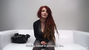 Redhead with the use of dreads shows her tits and sucks great cock