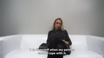 Mature milf discusses her perverted sexual intercourse career on video camera