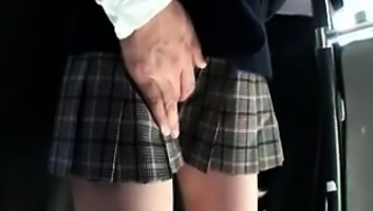 Adorable From asia schoolgirl possesses a attractive stud handling her puss