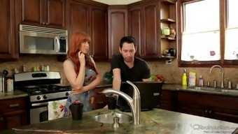 Stud has his heated redheaded wifey using his best friend