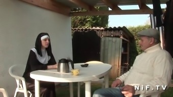 French nun anal passage fucked in threesome