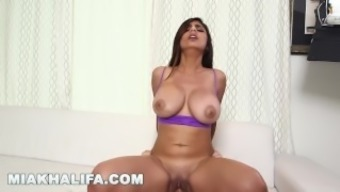 MIA KHALIFA - Getting additional cock from J-Mac in support of scenes! (mk13784)
