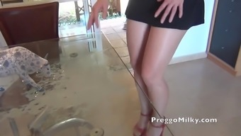 lactation blowjob with your beginner MILF