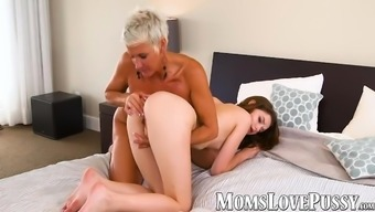 Horny Lexy Cougar ingests youngster Alex Maes small brushed clit