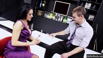 A horny and gorgeous dark MILF by using large boobs explodes her slinky penalizing ensemble