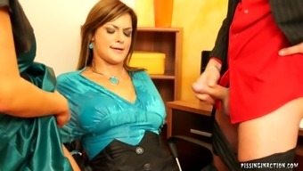 Lucky dude gets to fuck two juicy twats in an awesome threesome scene