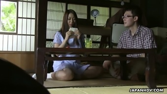 Asian girl Ai Mizushima gives the best ever blowjob to her boyfriend