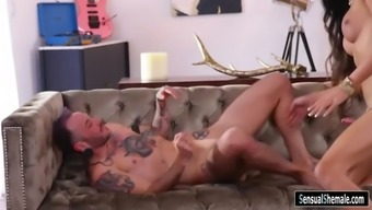 ts famous person venus lux fucks horny guys in his pussy