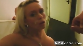 Inside the appartment building a intoxicated stud learned this sizzling sexy big titties love