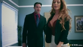 Nicole Aniston is the boss who exactly will be able to make her hubby and a staff member fuck her