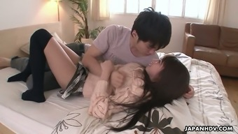 From asia hottie Hitomi Kitagawa gets her pussy creampied after having a moist hammering