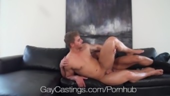 HD GayCastings - Strong texas lad fucked on chosing settee