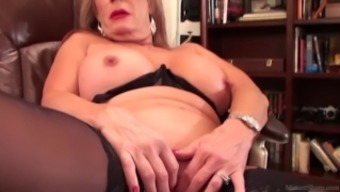 Slutty blond Rae Hart senior dreams of positioning and playing with her girlie man vid