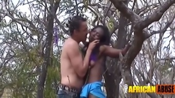 Interracial west african bdsm partners outside