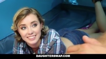 DaughterSwap- Attractive Girl siblings Fuck Dads on Camping Trip