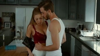 Dude can't resist fucking super hot busty step-mommy Britney Amber