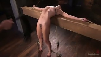 Brown eyed quite buxom nympho Roxanne Rae gets clit vitalized