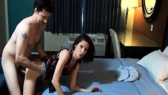 Milf with the use of fuzzy beaver does blowjob and it is fucked very difficult